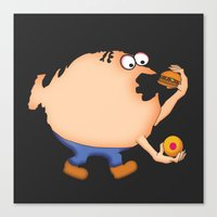 my mad fat diary Canvas Prints featuring Fat Nation by Steve Bonello
