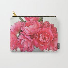 Pink Roses Bouquet PO Carry-All Pouch