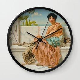 "John William Godward ""Reverie (In the Days of Sappho)"" Wall Clock"