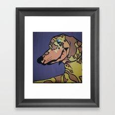 Charlie Rex Boomerang Framed Art Print