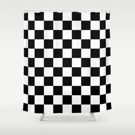 Chequers Shower Curtain