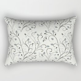 Contrast leaf art Rectangular Pillow