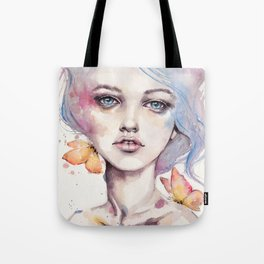 With Elegance (female Portrait) Tote Bag