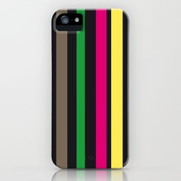 bold stripes and color iPhone Case