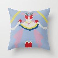sailor moon Throw Pillows featuring Sailor Moon by JHTY