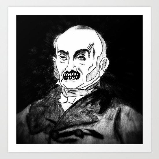 06. Zombie John Quincy Adams  Art Print