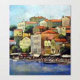 Mediterranean town Canvas Print