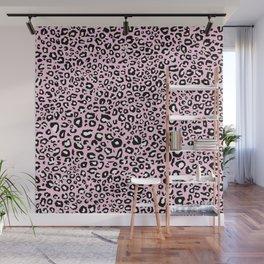 Pastel Pink Leopard Print Wall Mural