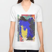 bob dylan V-neck T-shirts featuring bob dylan by manish mansinh