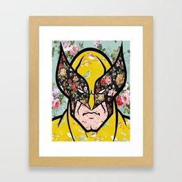 Floral (Wolverine)James Logan Howlett Framed Art Print