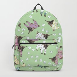 Pajama'd Baby Goats - Green Backpack
