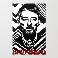 radiohead Canvas Prints featuring RadioHead by Pan Trinity Das
