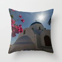 greek Throw Pillows featuring Greek Orthodox by Mark Nelson