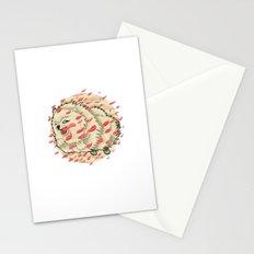 Pomeranian in Autumn Stationery Cards