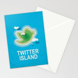 Twitter Island Stationery Cards