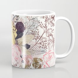 Miles and miles of rose garden. Retro floral pattern in vintag style Coffee Mug