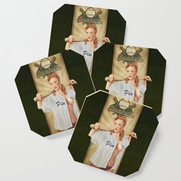 VINTAGE GIRLS - Baseball Coaster