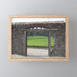 doorway to the vineyard Framed Mini Art Print