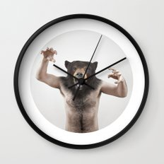 Therianthrope - Angry Bear Wall Clock