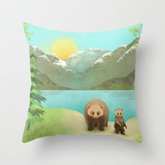 one cub Throw Pillow