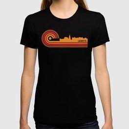 Retro Style Lafayette Indiana Skyline T-shirt