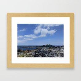 Godrevy Head lighthouse Framed Art Print