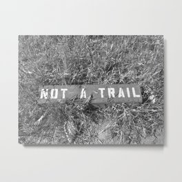 Not a Trail Metal Print