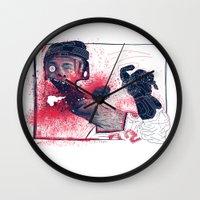 hockey Wall Clocks featuring Hockey! by Dushan Milic