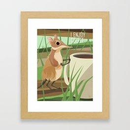 Sengi Enjoys Coffee Framed Art Print