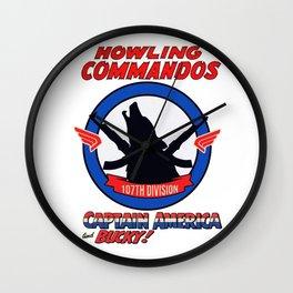 Howling Commandos CAP&BUCKY Wall Clock