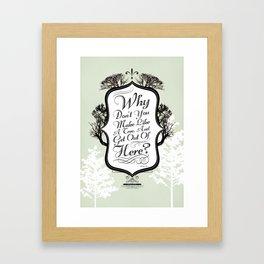 """Make Like a Tree"" Typography Back to the Future Print Framed Art Print"