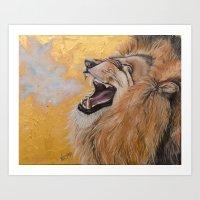 fierce Art Prints featuring Fierce by NicoleFaye