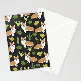 Welsh Corgi cactus southwest desert dog breed corgis gifts Stationery Cards