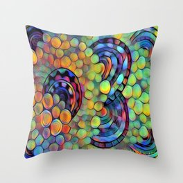 Dazed circles Throw Pillow