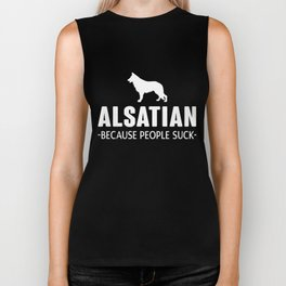 Alsatian gift t-shirt for dog lovers Biker Tank