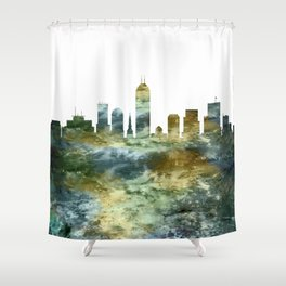 Indianapolis Skyline Indiana Shower Curtain