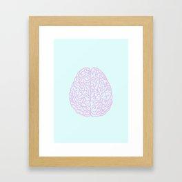 Pastel Brain Framed Art Print