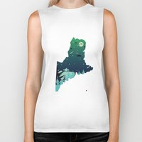 maine Biker Tanks featuring Almost, Maine by Typo Negative