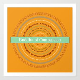 Buddha of Compassion Art Print