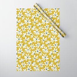 Retro Blooms Wrapping Paper