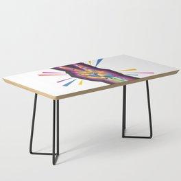 Raise a Peace Sign (Purple Spirit) Coffee Table