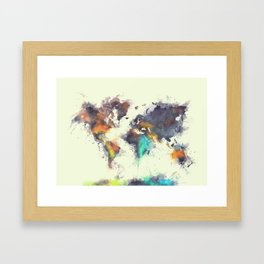 world map 106 #worldmap #map Framed Art Print
