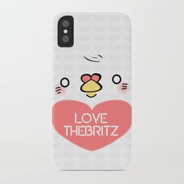 Mr. Valentine Pigeon (Large White) iPhone Case