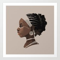 african Art Prints featuring African by biboun