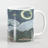 starry night Mugs featuring starry night by Justin McElroy