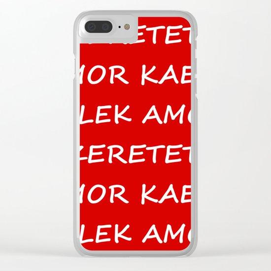 Love International Clear iPhone Case