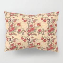 Project 397 | Red Roses on Gold Pillow Sham