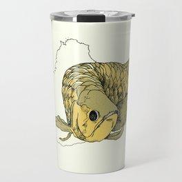 Gold Arowana Travel Mug