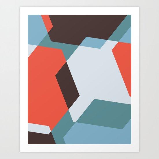 Hex - Blue Art Print