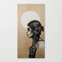 native Canvas Prints featuring Native by Mo Baretta